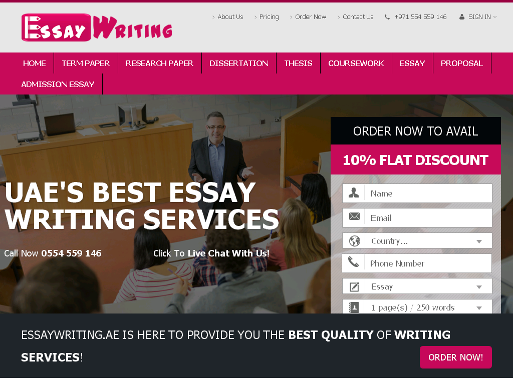 Where to find a custom essay company in UAE